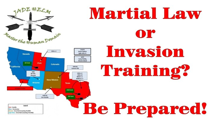 1) Operation Jade Helm 15 is actually a government plot to establish martial law in Texas.