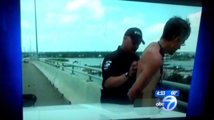 7) A naked unicyclist was arrested in Kemah for distracting drivers.