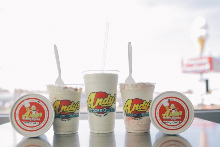2. Andy's Frozen Custard- Located in Tulsa with a few more OK locations coming in 2015.  Try a delicious Concrete and you will see why Andy's has those long lines.