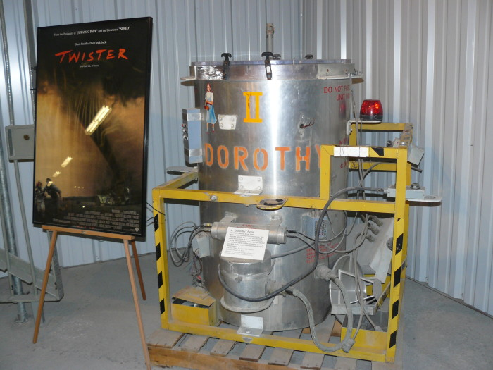 4. Twister: It's no surprise that several Oklahoma locations were used for this tornado thriller.  You can visit the Twister Museum in Wakita to see some of the memorabilia used in the film.