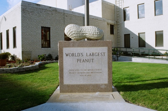 1. The World's Largest Peanut can be found in Durant, OK.
