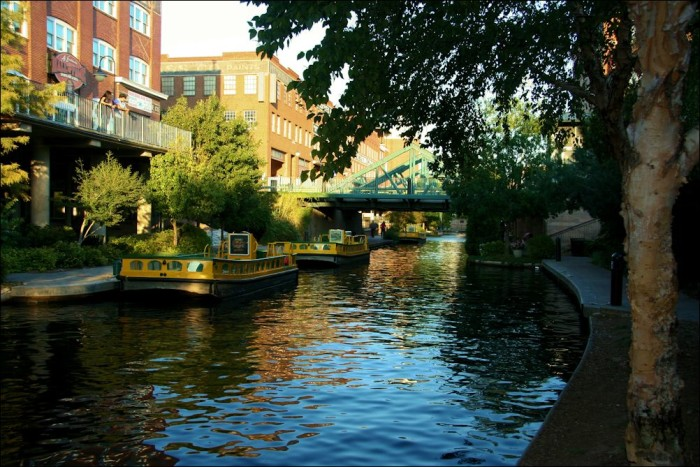 10. Bricktown Water Taxi-While enjoying the charm of Bricktown, take a little romantic ride along the canal that runs through it.