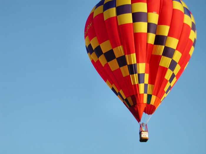 6. Hot Air Balloon Ride-Take an adventure together that you will never forget.
