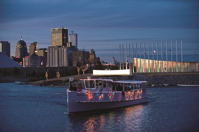 1. Oklahoma River Cruise-Take a sunset cruise and enjoy the OKC skyline while  eating some appetizers and sipping on a glass of wine.