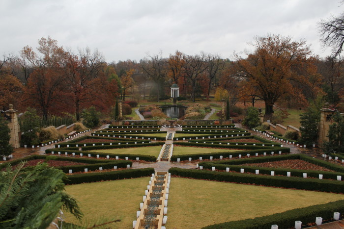 4. The Garden at Philbrook Museum-The gorgeous garden at Philbrook Museum in Tulsa is the perfect spot for that afternoon sweet talk.