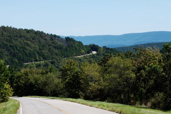 1. Talimena Scenic Drive