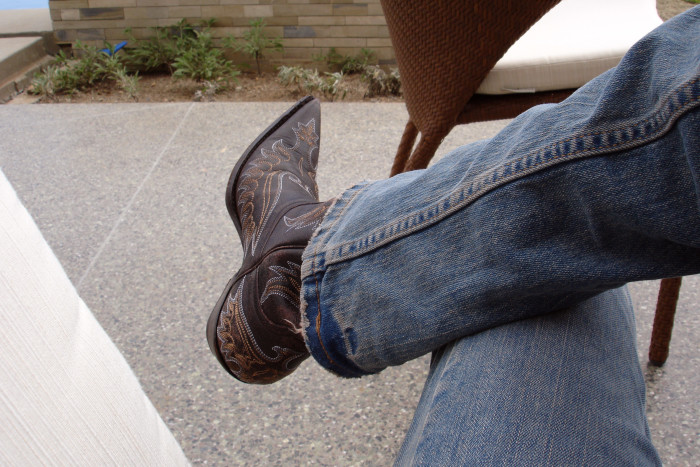 2. Or wear cowboy boots.