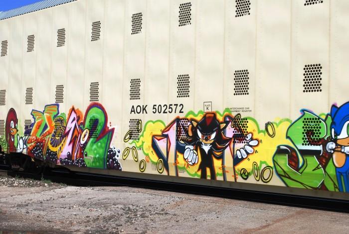2. Sonic Hedgehog Train Graffiti.