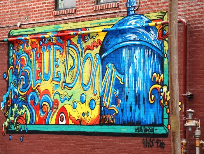 3. Tulsa's Blue Dome District Street Art.