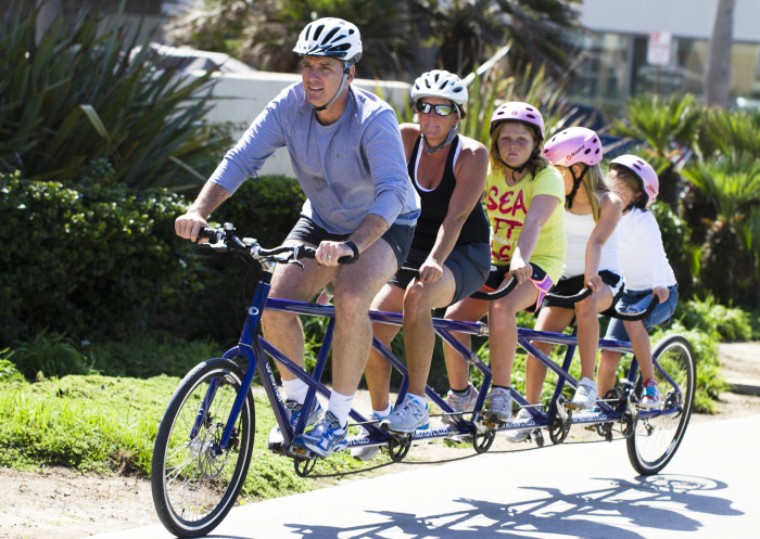 9. Plan a family bike ride...there are lots of places around the state to rent bikes if you don't own them.