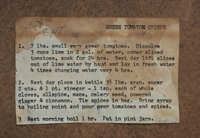 2) Grandma's Recipes