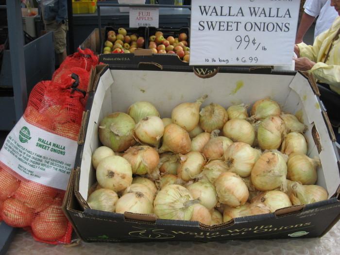 8. Walla Walla sweet onions.