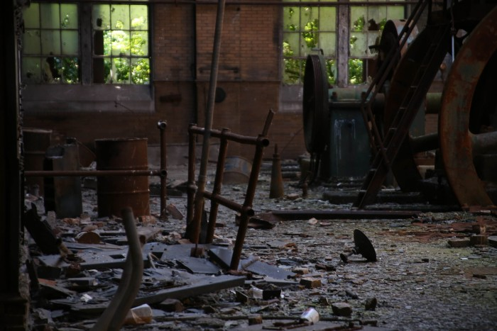 2. The Armour Meat Packing Plant sits abandoned.