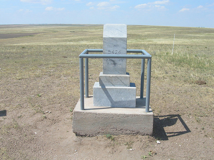 8. Panorama Point in Southwestern Kimball County is Nebraska's Highest Point at 5,424 Feet.