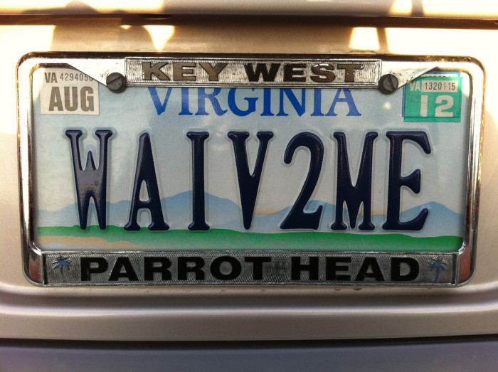 1. I'm going to have the coolest personalized plate EVER.