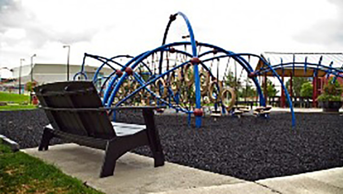 9. Playfront Park in Duluth is Duluth's largest playground. It has this amazing new structure that, besides being super cool to play on, actually enhances balance, coordination and strength!