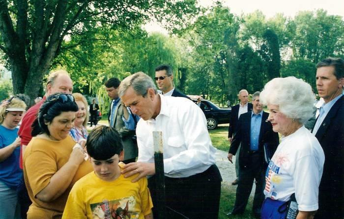 7. When George W. Bush visited Ripley