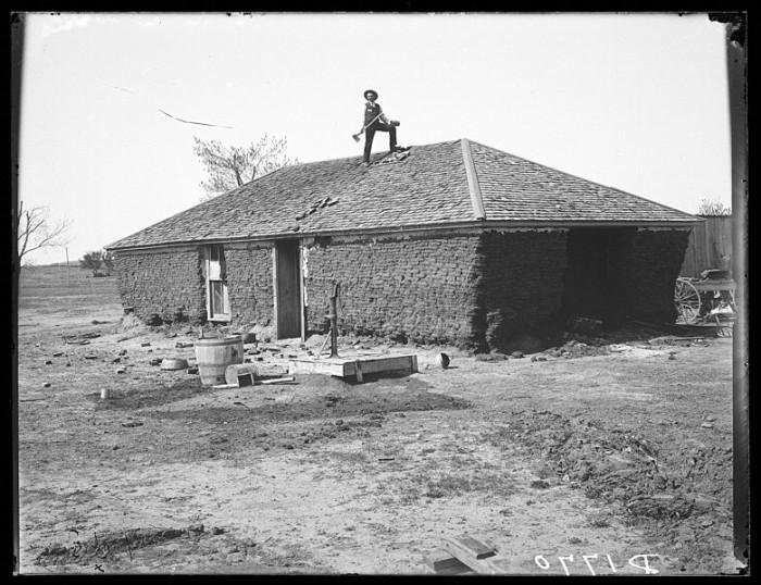 """Old Reynor Sod House,"" Custer County, 1904"