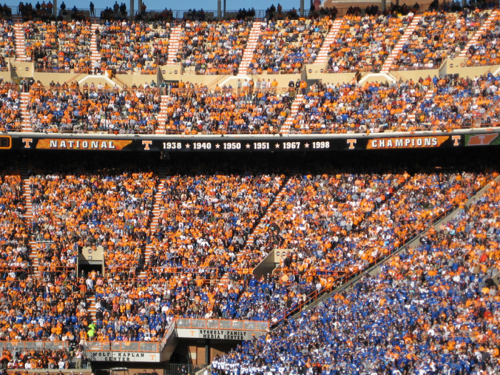2) No need to look for a sports team - Tennessee will pick one for you!