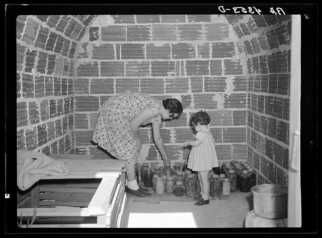 A Storage Cave in Falls City Farmsteads, 1936