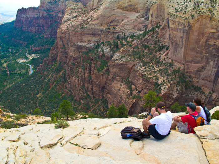 1) At the summit, you'll enjoy an eagle-eye's view of Zion canyon.