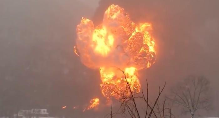 4. When an oil train derailed in Fayette County