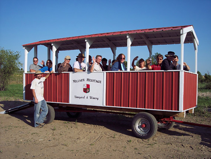 12. Millner Heritage Vineyard & Winery in Kimball has an amazing riding vineyard tour that you will love!