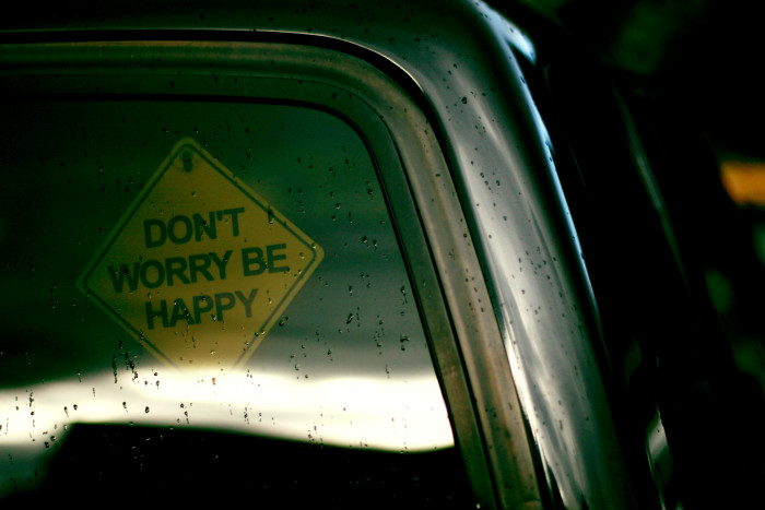 8. Being unhappy!