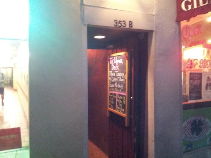 7. Upper Deck Tavern, 353-B King St., Charleston, SC