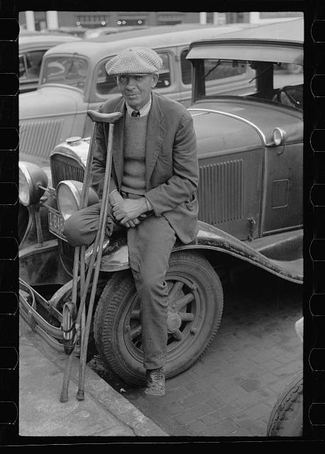 A War Veteran Selling Pencils in Omaha, 1938