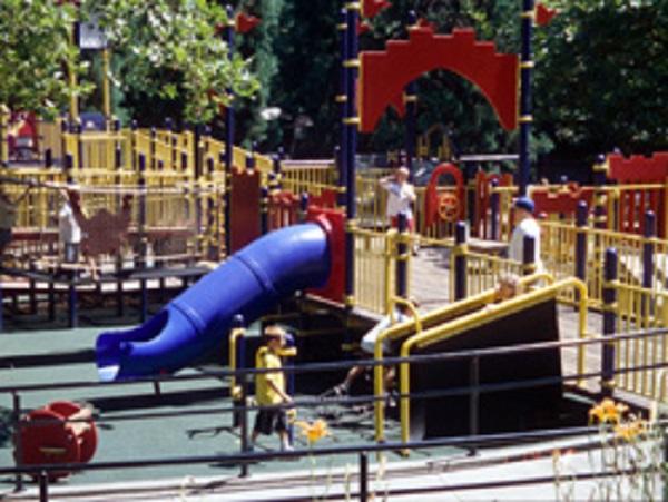Rose Garden Children's Park playground, at Washington Park, Portland