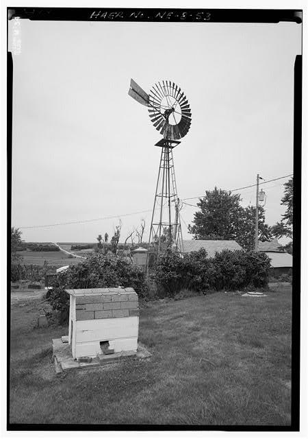 An Eli Windmill on George Stuckenolz's Farm, Near Nebraska City, Date Unknown