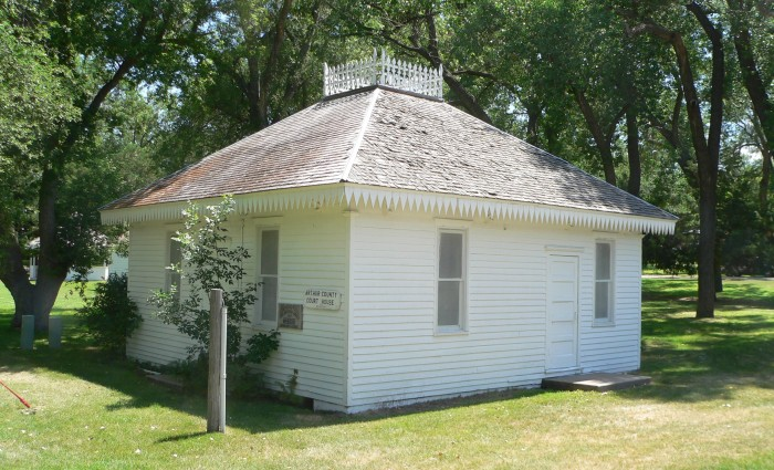 20. The First Arthur County Courthouse and Jail, in Arthur, is Said to Be America's Smallest Courthouse at 26 X 28 Feet.