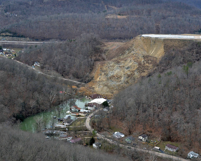 1. Earlier this year when there was a landslide below Yeager Airport