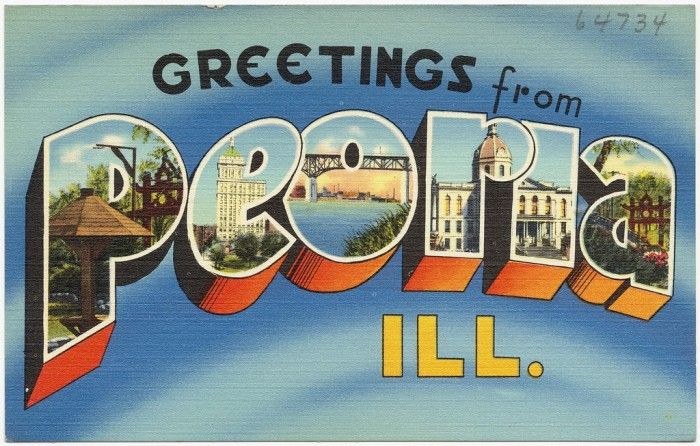 2. Peoria is the oldest community in Illinois