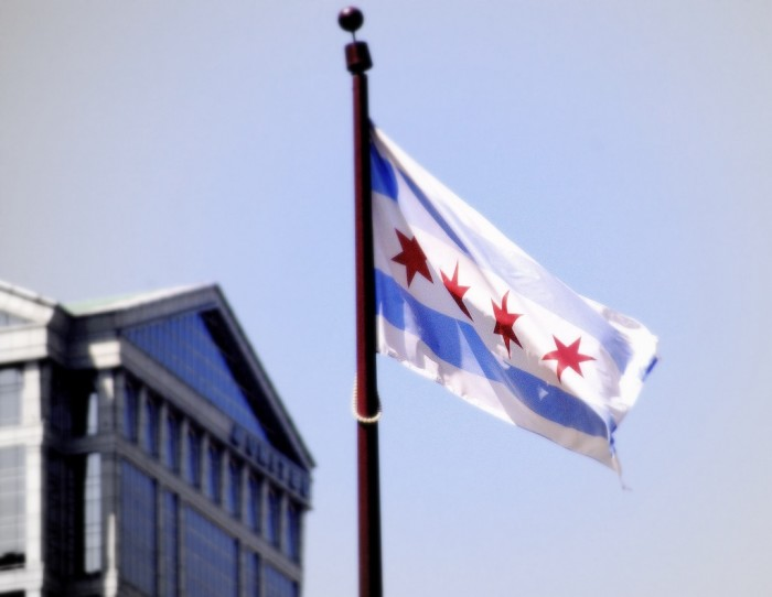 7. The four stars on the Chicago flag stand for: Fort Dearborn, the Chicago Fire, the Columbian Exposition, and the Century of Progress Exposition