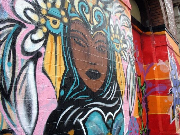 This cool street art is in the Pilsen neighborhood in Chicago