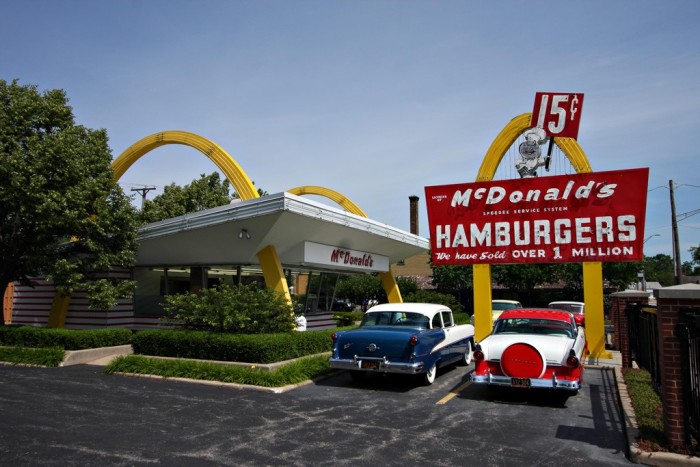 3. The first McDonalds franchise was put in Des Plaines--and you can visit the museum today (1955)