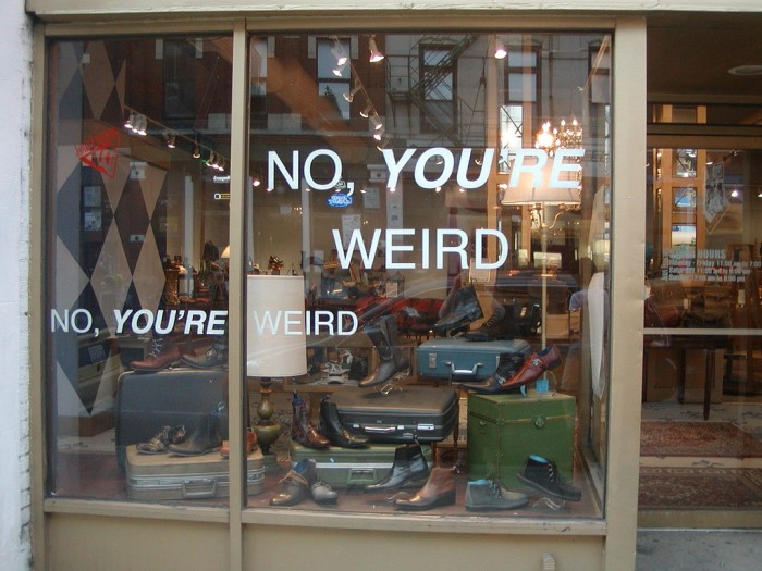 Just one of the many eclectic storefronts in Chicago.