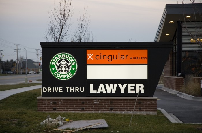 This sign is in Oswego. Insert lawyer joke here. :)