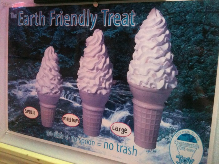 Eating ice cream = saving the environment