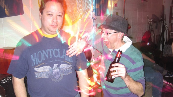 Rainbows, beer, awkward hand placement and expressions...these are the perfect ingredients for a hilarious photo.