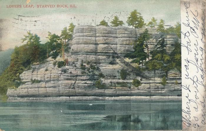 5. Vintage Starved Rock (Lovers Leap) postcard.