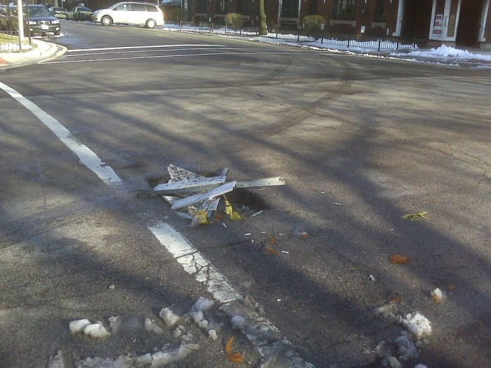 1. Potholes are commonplace...and sometimes creatively filled