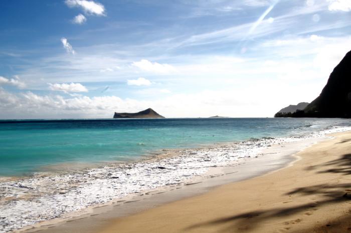 1) You can easily relax on a quintessential Hawaiian beach.