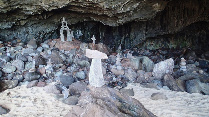10) And in all these magnificent caves, you can find rock statues made from passing visitors, just like yourself.