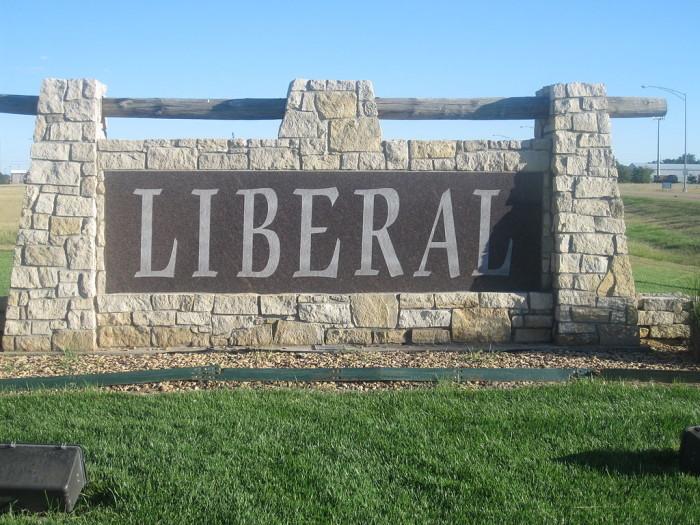 9.) Liberal (Population: 21,261)