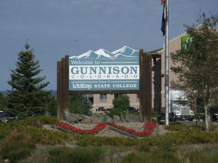 9.) Gunnison (Population: 5,884)