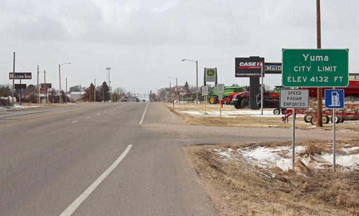 7.) Safest Town on the Plains -- Yuma (Population: 3,563)