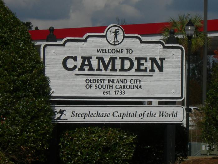 8. Camden, SC